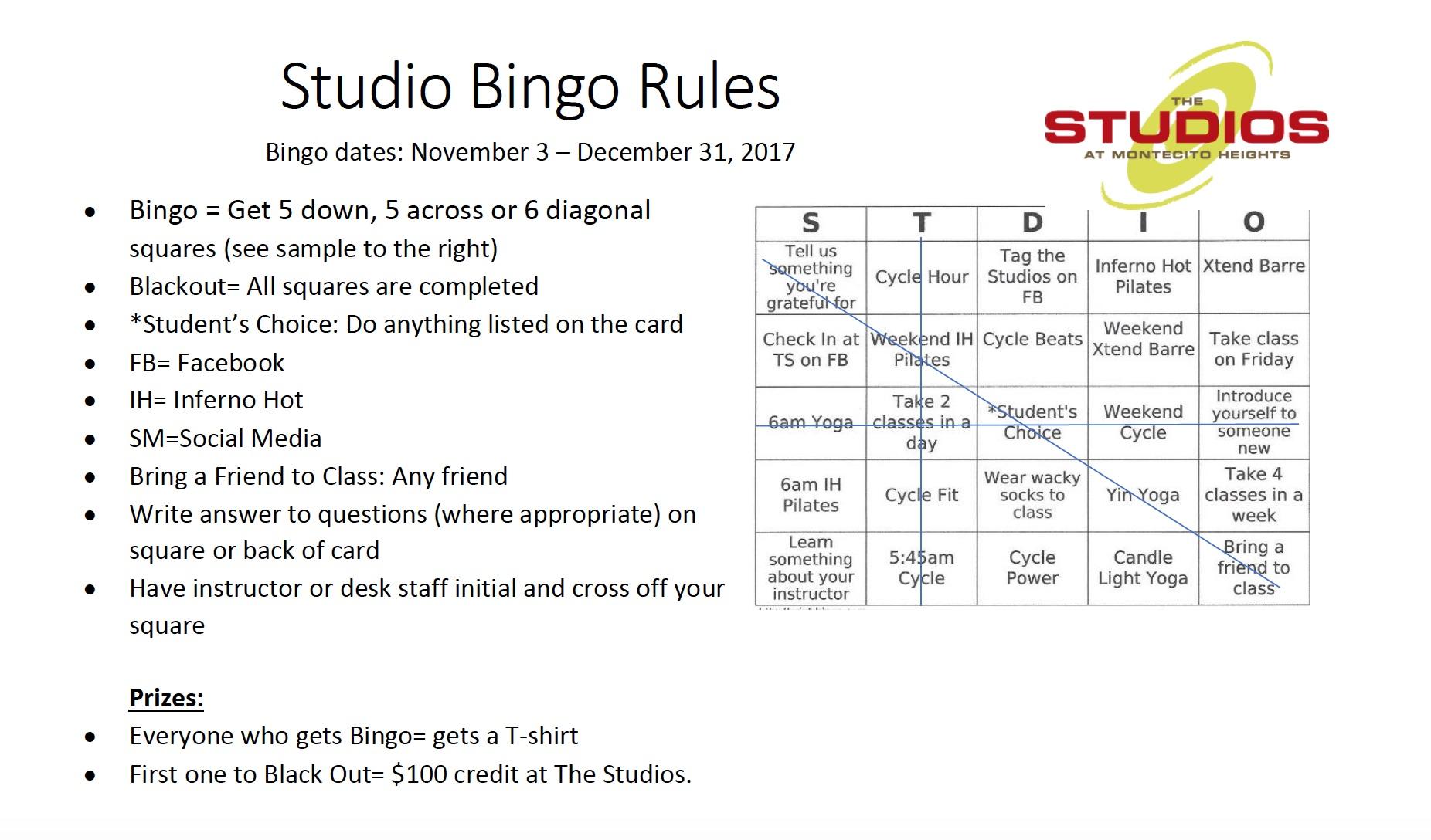 Bingo Game Rules